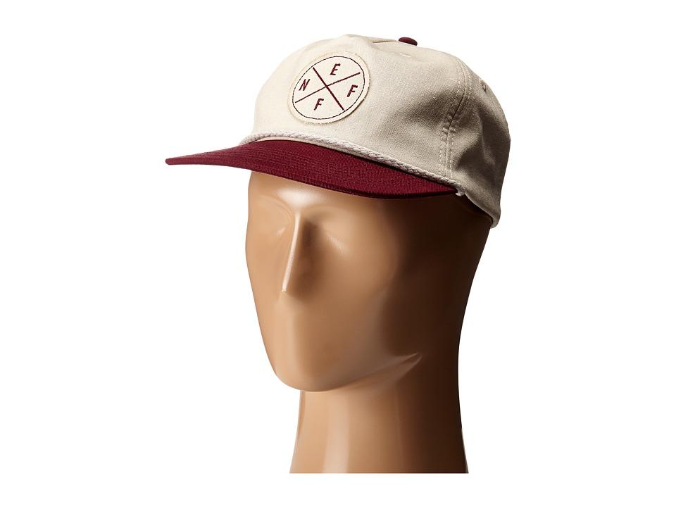 Neff - Kai Cap (Beige/Maroon) Caps
