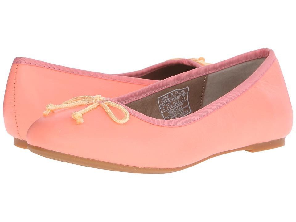 Polo Ralph Lauren Kids Nellie (Little Kid) (Neon Melon Leather) Girls Shoes