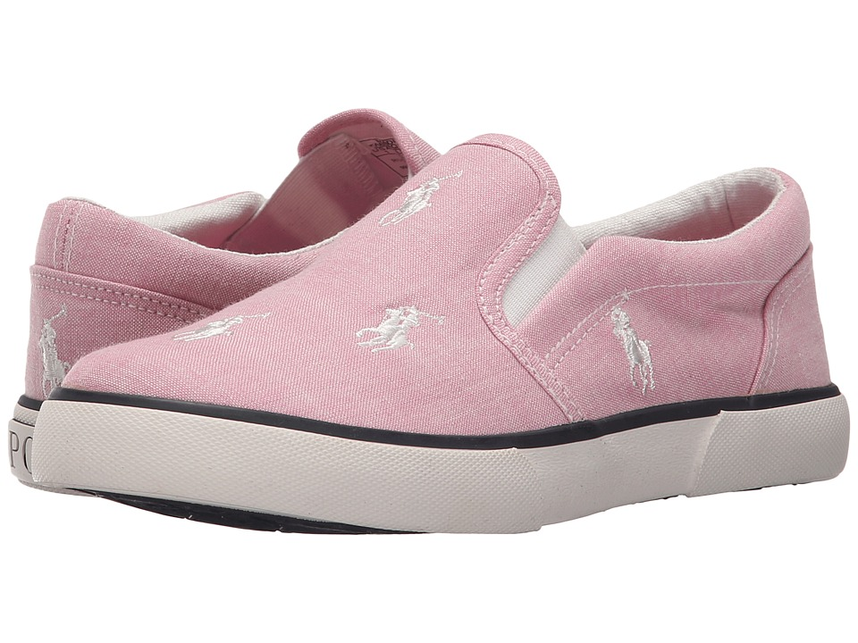 Polo Ralph Lauren Kids - Bal Harbour Repeat (Little Kid) (Pink Chambray/White Ponies) Girl's Shoes