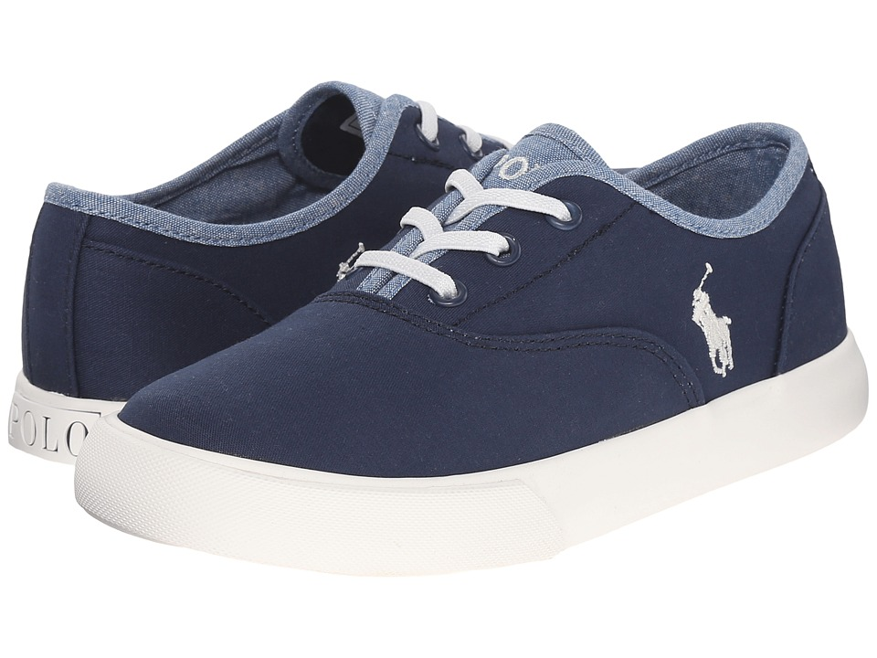 Polo Ralph Lauren Kids - Vali Gore (Little Kid) (Navy Chino/Blue Chambray) Girl's Shoes