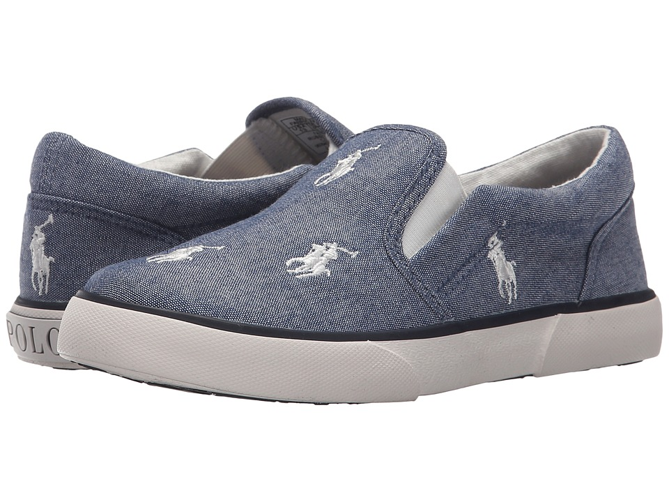 Polo Ralph Lauren Kids - Bal Harbour Repeat (Little Kid) (Light Blue Chambray/White Ponies) Kid's Shoes