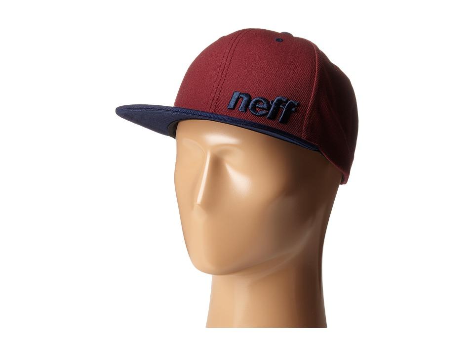 Neff - Daily Cap (Maroon/Navy) Baseball Caps