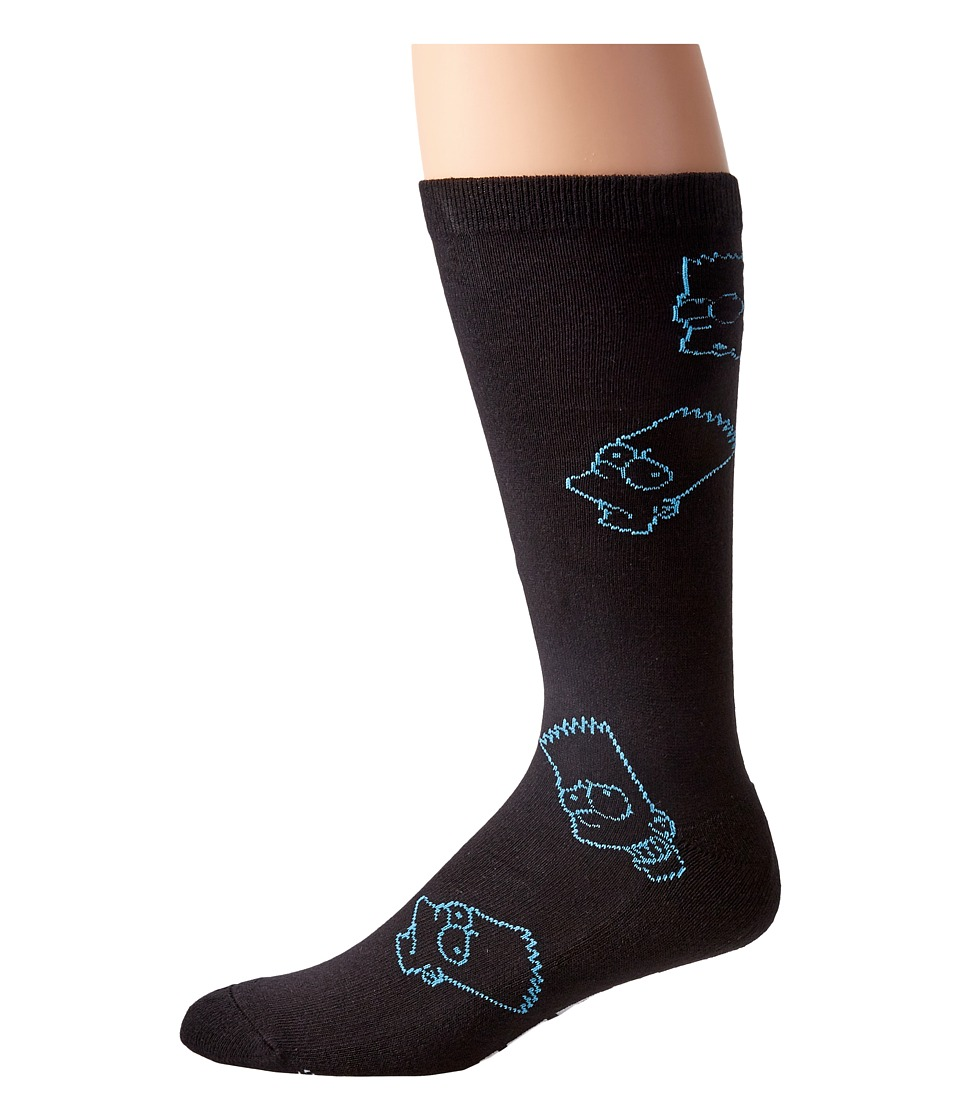 Neff - Barts World Socks (Black) Crew Cut Socks Shoes