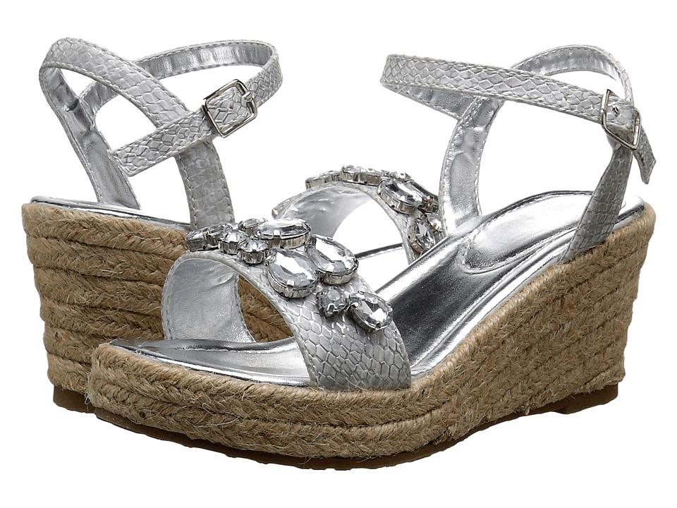 Ivanka Trump Kids - Gessa Wedge (Little Kid/Big Kid) (White/Silver) Girls Shoes