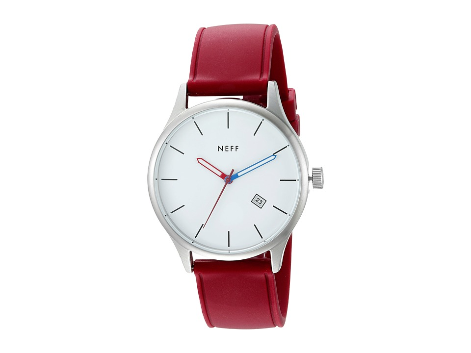 Neff - Esteban PU Watch (White/Maroon) Watches