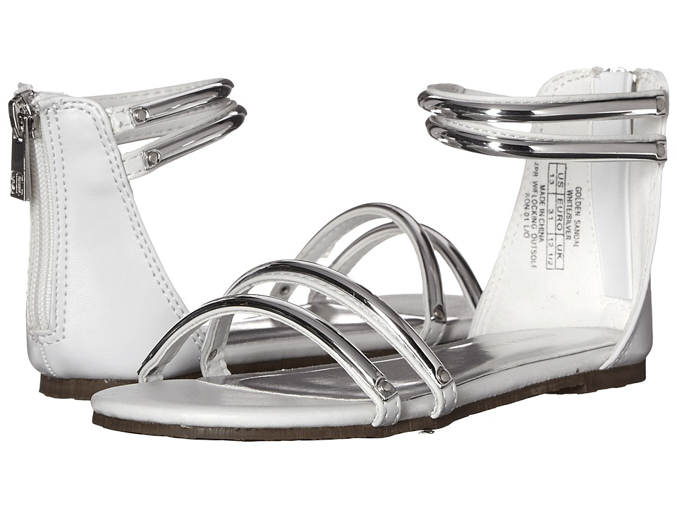 Ivanka Trump Kids - Golden Sandal (Little Kid/Big Kid) (White/Silver) Girls Shoes