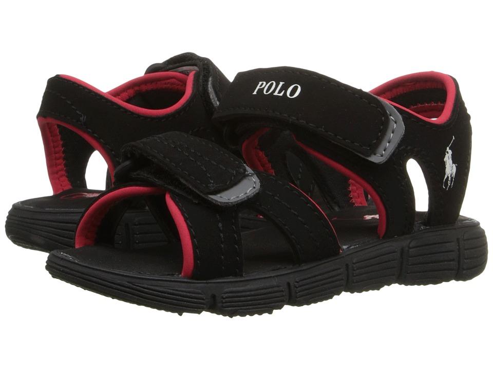 Polo Ralph Lauren Kids - Brody (Big Kid) (Black Sportbuck) Boys Shoes