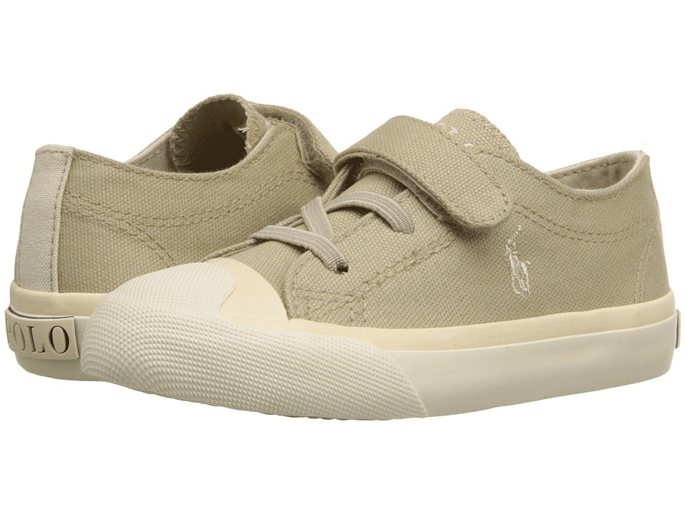 Polo Ralph Lauren Kids - Lamont EZ (Toddler) (Khaki Canvas/Khaki) Boy's Shoes