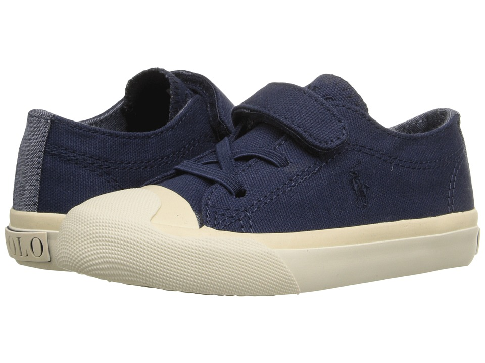 Polo Ralph Lauren Kids - Lamont EZ (Toddler) (Navy Canvas/Navy) Boy's Shoes
