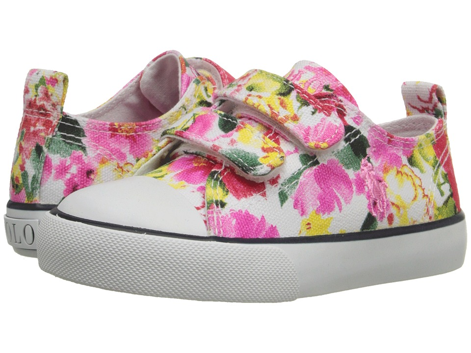 Polo Ralph Lauren Kids - Harbour Low EZ (Toddler) (Pink Large Floral) Girl's Shoes