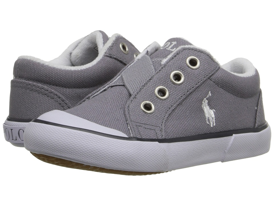 Polo Ralph Lauren Kids - Greggner (Toddler) (Grey Canvas) Boys Shoes