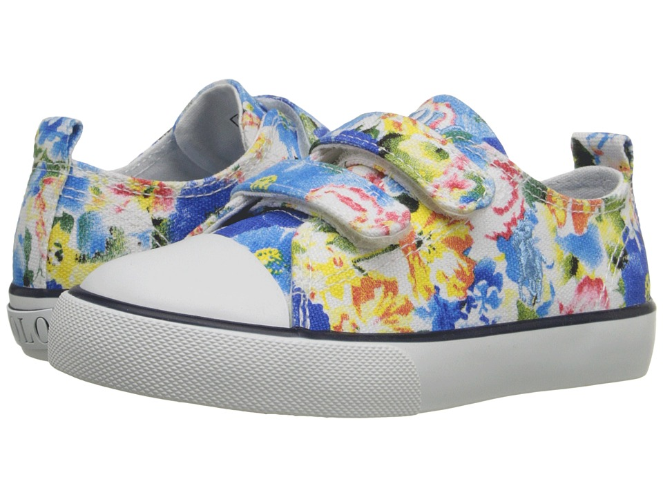 Polo Ralph Lauren Kids - Harbour Low EZ (Toddler) (Blue Large Floral) Girl's Shoes