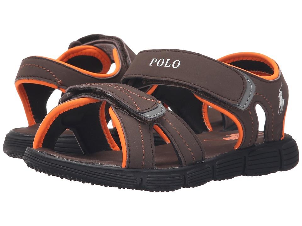 Polo Ralph Lauren Kids - Brody (Little Kid) (Chocolate Sportbuck) Boys Shoes