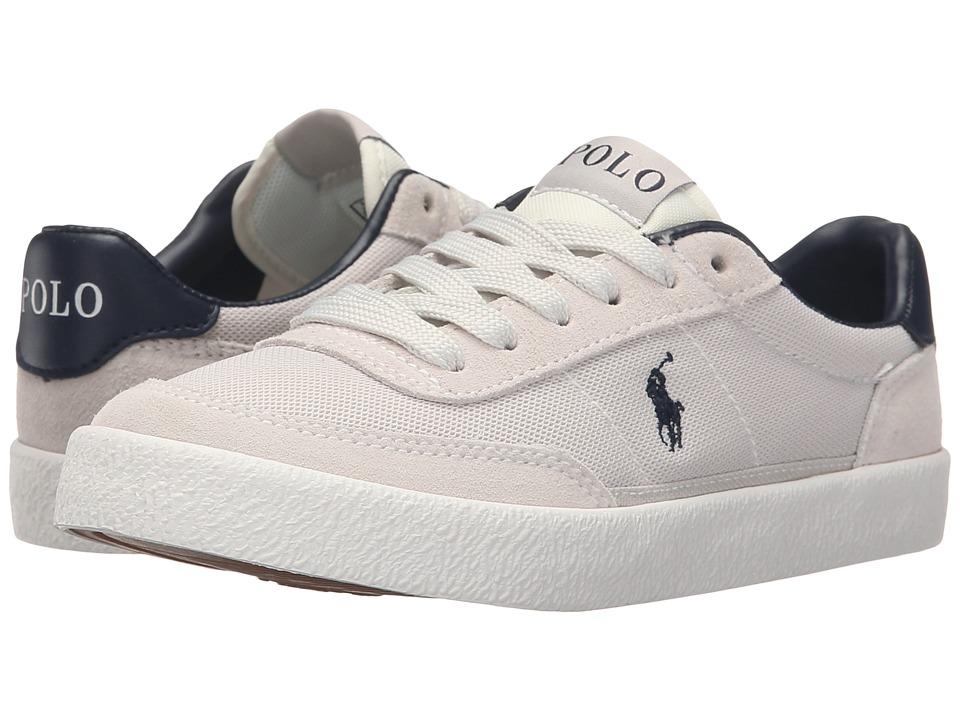 Polo Ralph Lauren Kids - Kamaal (Little Kid/Big Kid) (Off-White Mesh/Off-White Suede) Boy's Shoes