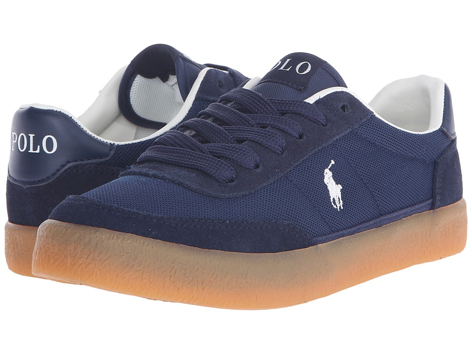 Polo Ralph Lauren Kids - Kamaal (Little Kid/Big Kid) (Navy Mesh/Navy Suede) Boy's Shoes