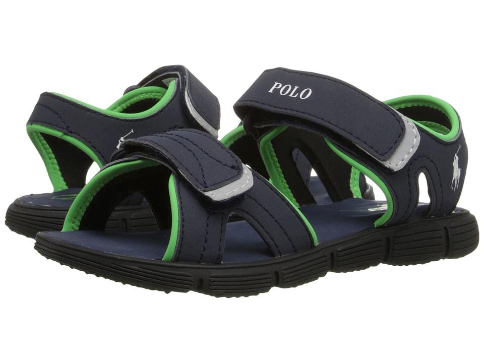 Polo Ralph Lauren Kids - Brody (Little Kid) (Navy Sportbuck) Boys Shoes