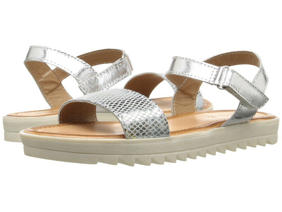 Pazitos - Pretty Kool Sandal (Little Kid/Big Kid) (Snake Silver) Girls Shoes