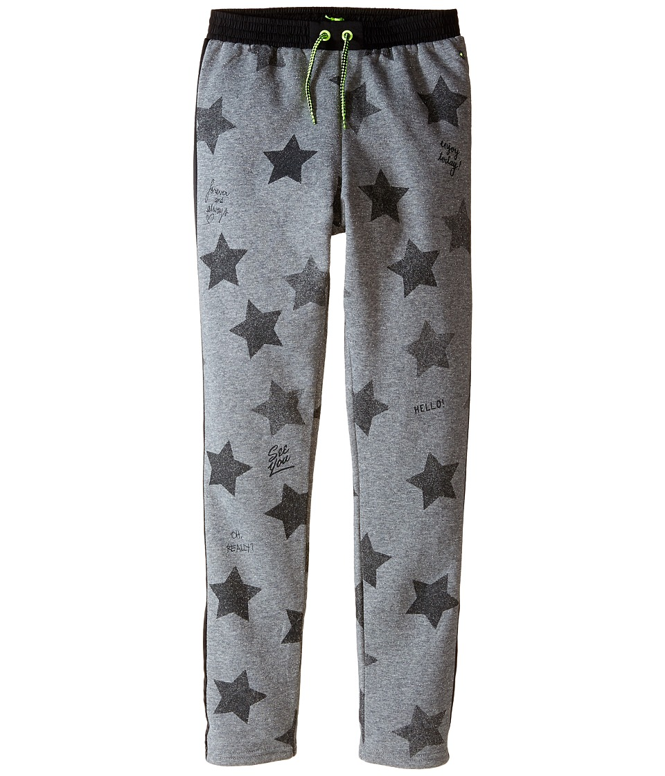 IKKS - Star Print Jogger Sweatpants (Little Kids/Big Kids) (Gris Chine) Girl