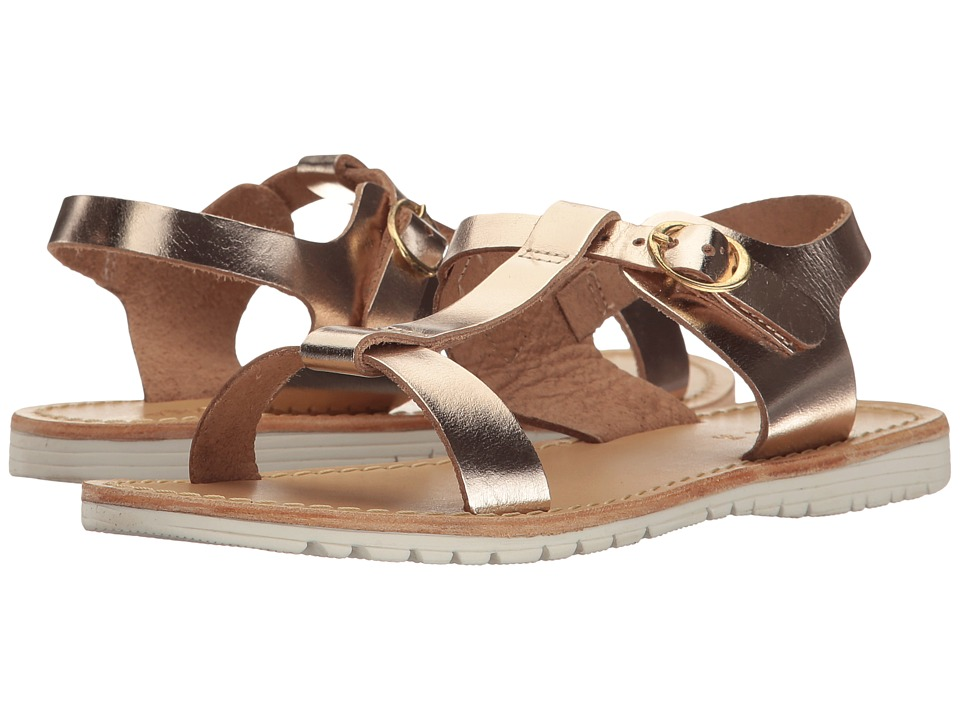 Pazitos - The T-Sandal (Little Kid/Big Kid) (Gold) Girls Shoes