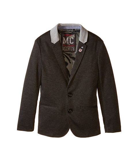 IKKS - Jersey Blazer Jacket with Navy Badges (Little Kids/Big Kids) (Anthracite) Boy's Jacket