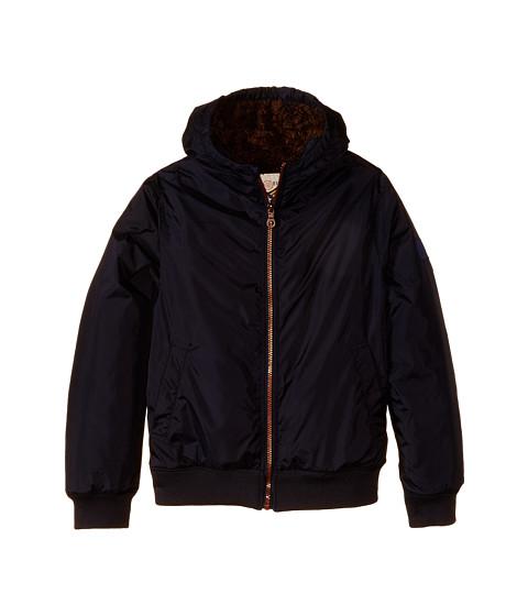 IKKS - Ultra Soft Hooded Jacket with Faux Fur Lining (Little Kids/Big Kids) (Navy) Boy