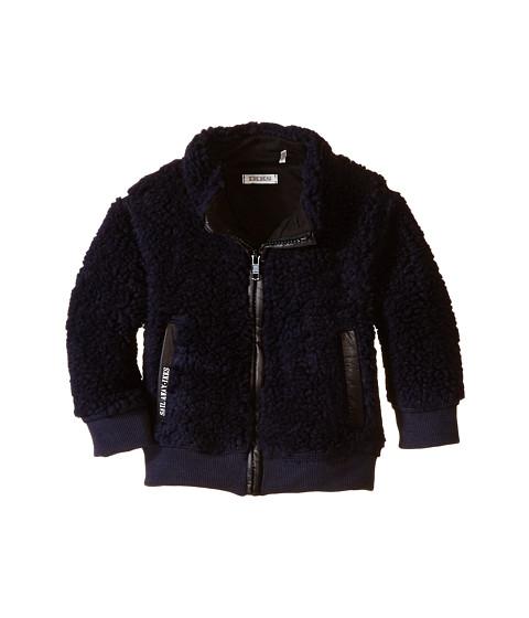 IKKS - Fleece Zip-Up Cardigan (Infant/Toddler) (Encre) Boy
