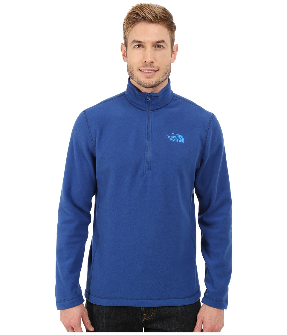 The North Face - TKA 100 Glacier 1/4 Zip (Limoges Blue) Men's Sweatshirt