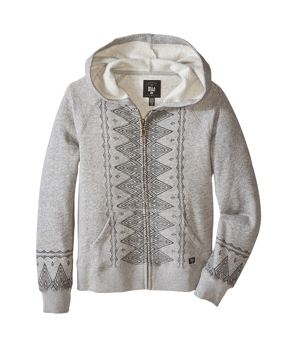 Billabong Kids - Wolf Pack Zip-Up Hoodie (Little Kids/Big Kids) (Dark Athletic) Girl