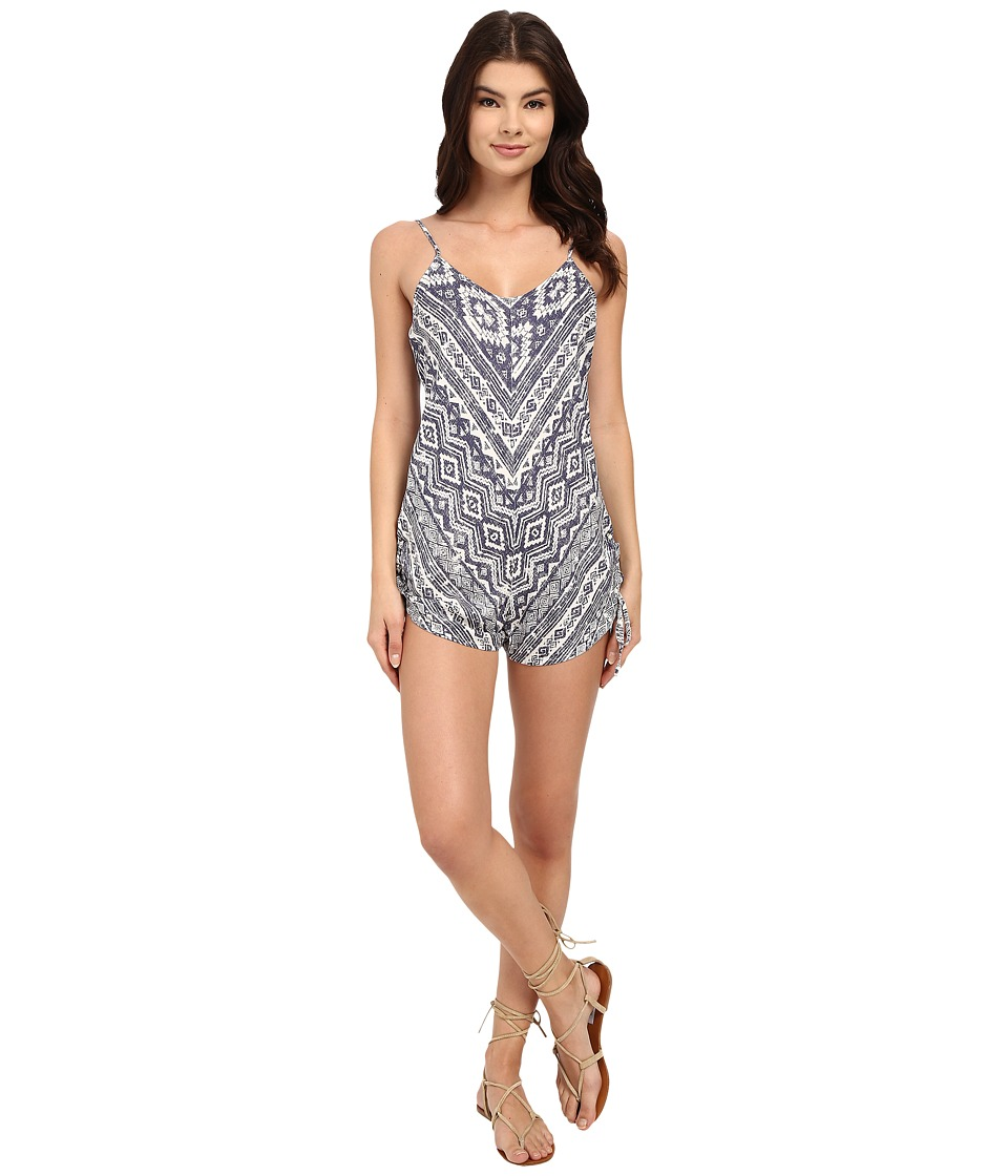 Billabong - Keep Dreamin Romper (Blue Cruz) Women's Jumpsuit & Rompers One Piece