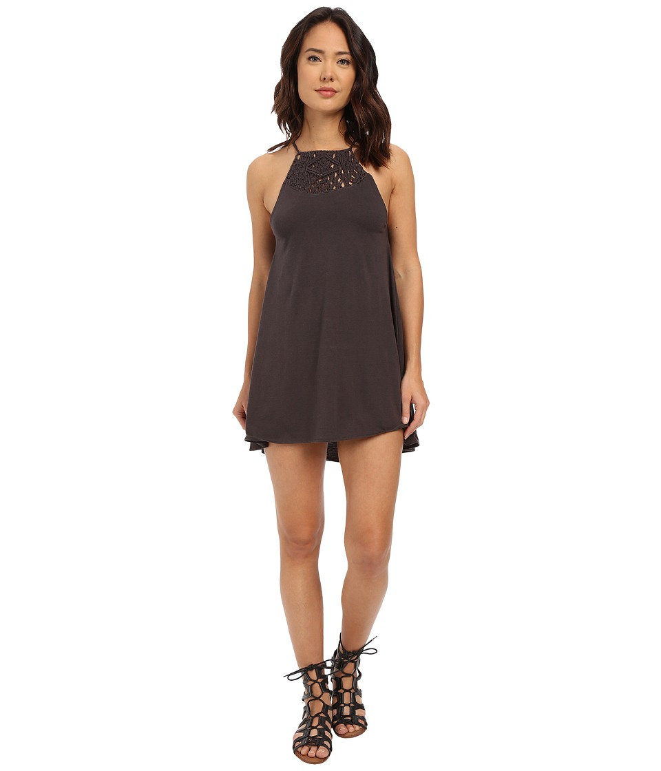 Billabong - Happy Place Dress (Off-Black) Women's Dress