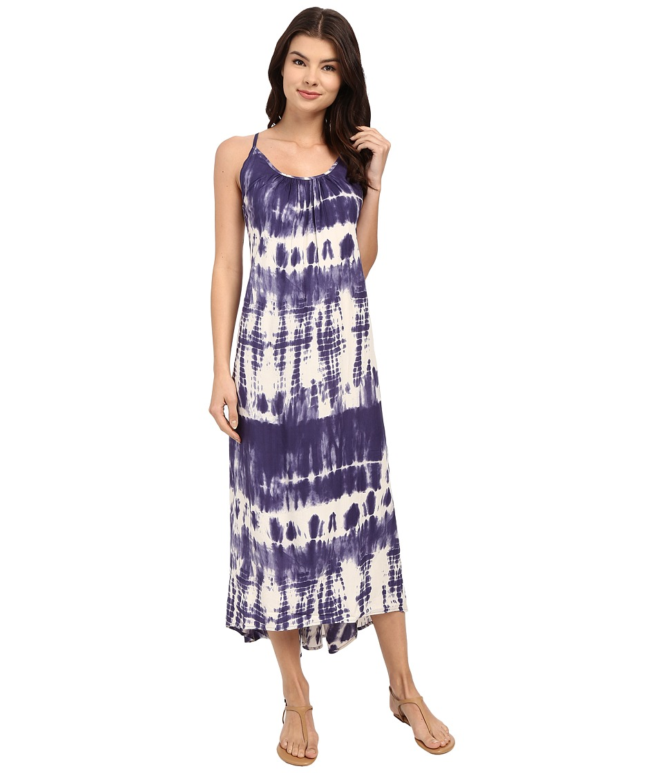 Billabong - Silver Bloom Maxi Dress (Blue Cruz) Women's Dress