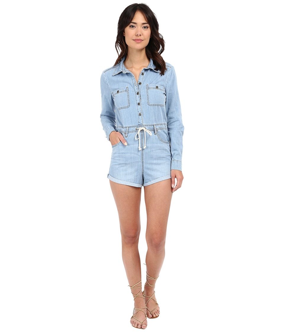 Billabong - Never Over It Coveralls (Blue Tide) Women's Jumpsuit & Rompers One Piece