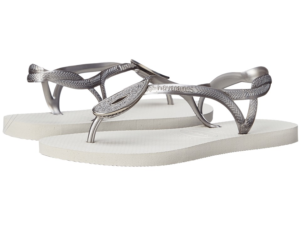 Havaianas - Luna Special Flip Flops (White) Women's Sandals