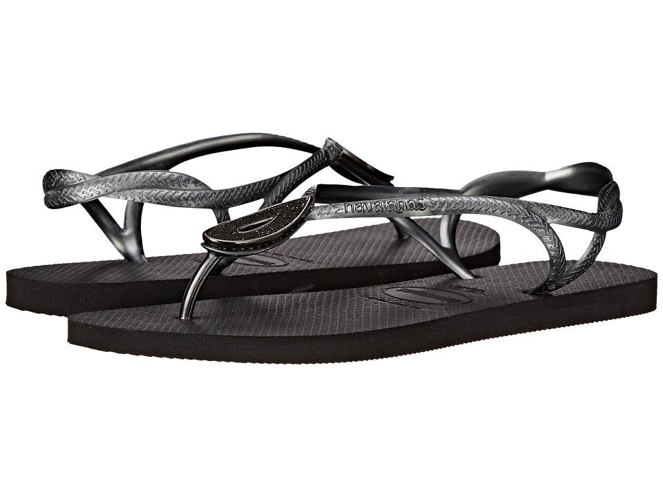 Havaianas - Luna Special Flip Flops (Black) Women's Sandals