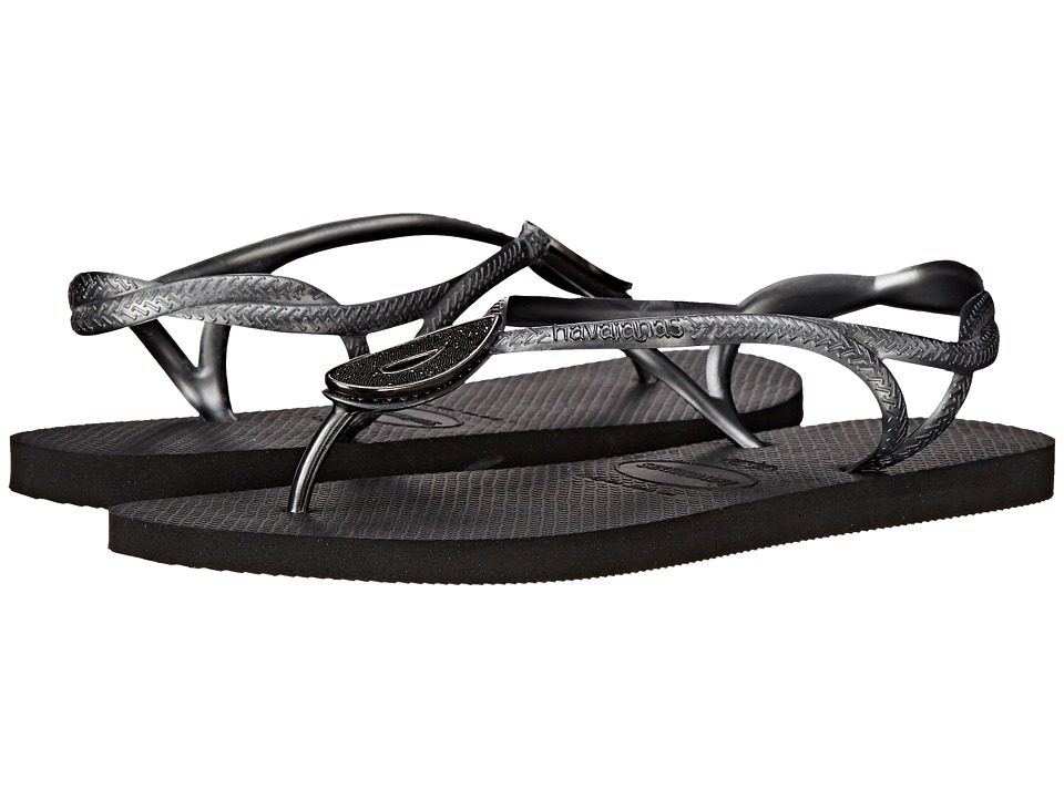 Havaianas Luna Special Flip Flops (Black) Women