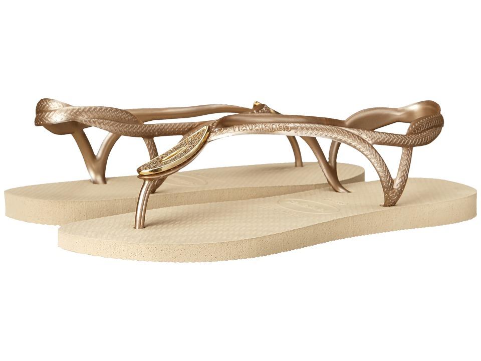 Havaianas - Luna Special Flip Flops (Sand Grey) Women's Sandals