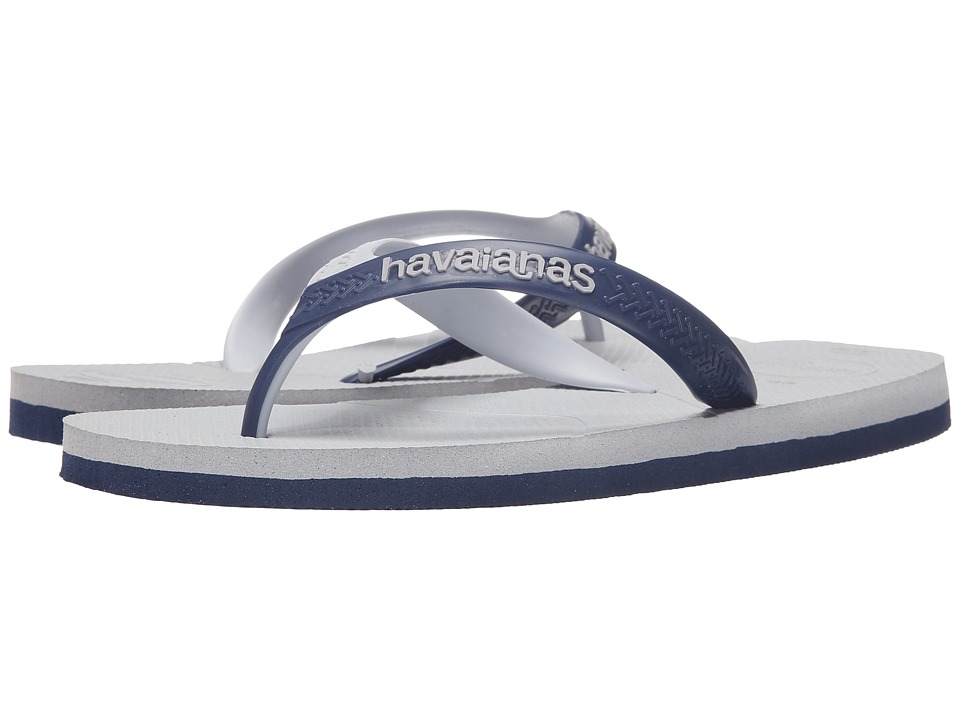 Havaianas - Casual Flip Flops (Ice Grey/Navy) Men's Sandals
