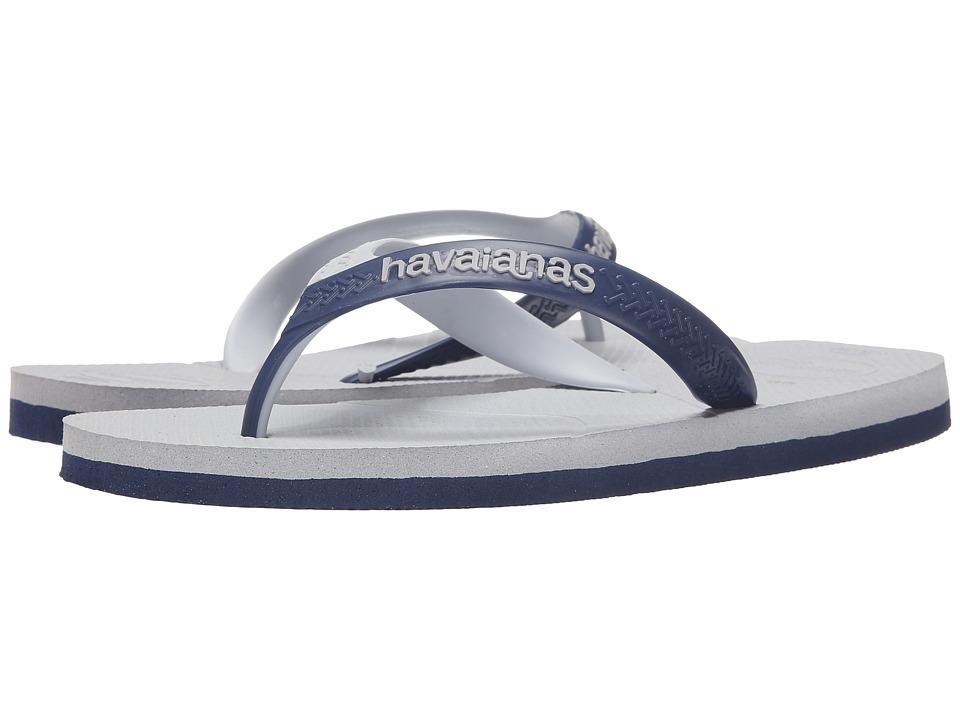 Havaianas - Casual Flip Flops (Ice Grey/Navy) Men's Sandals