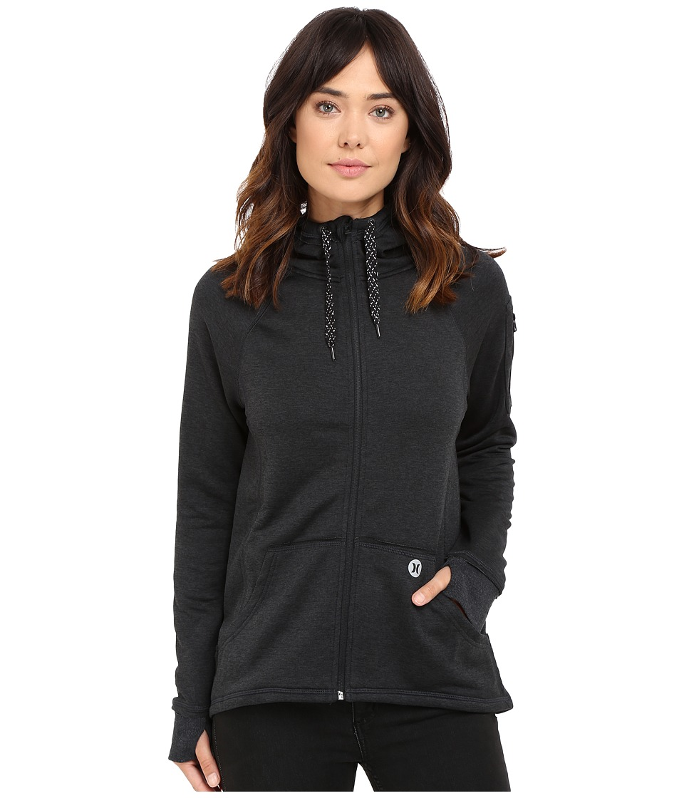 Hurley - Dri-Fit Fleece Zip Hoodie (Black) Women's Sweatshirt