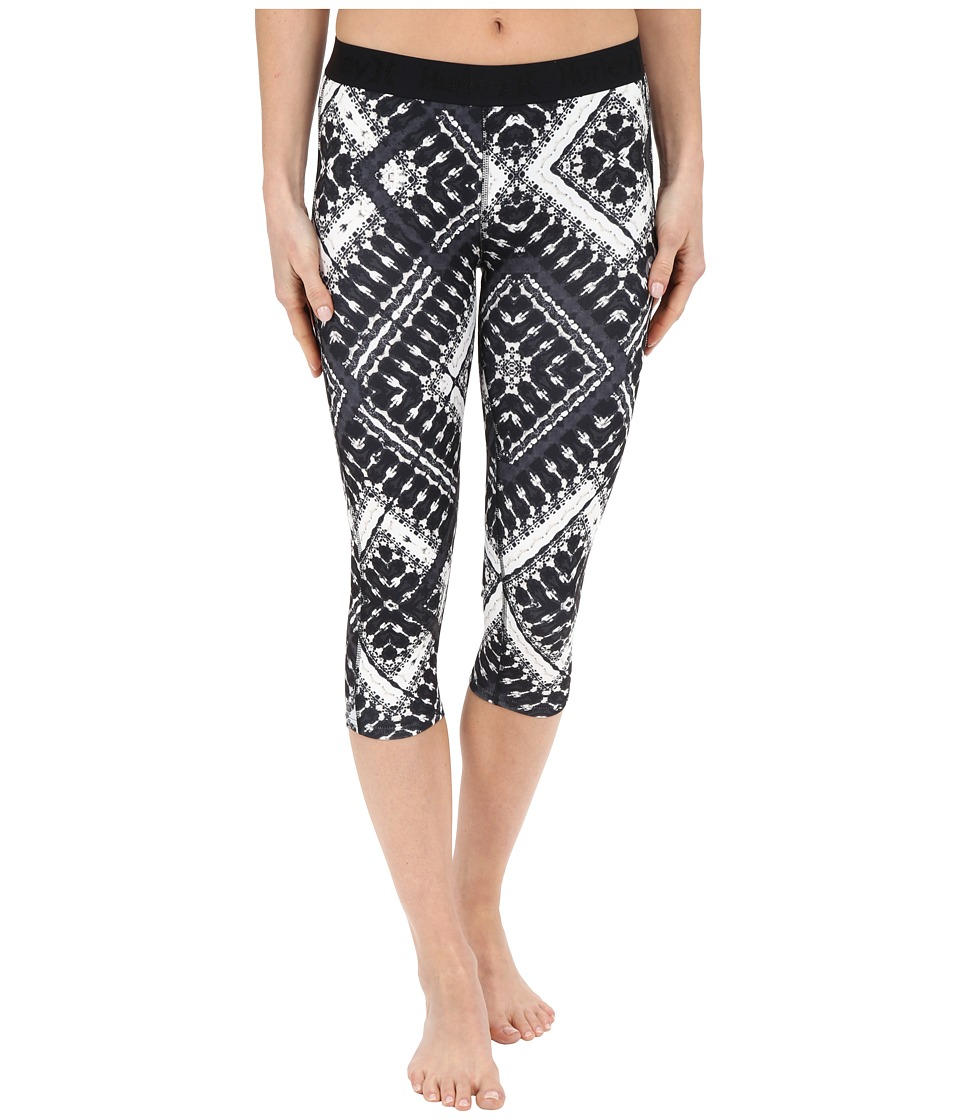 Hurley - Dri-Fit Crop Leggings (Black T) Women's Workout