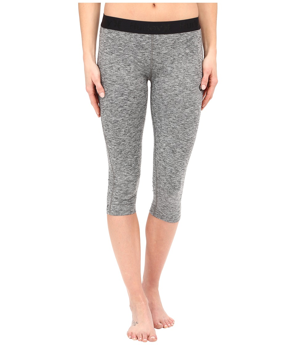 Hurley - Dri-Fit Crop Leggings (Heather Grey) Women's Workout