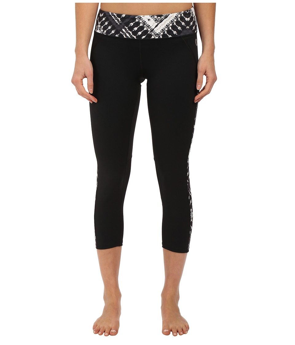 Hurley - Dri-Fit Paneled Leggings (Black T) Women's Workout