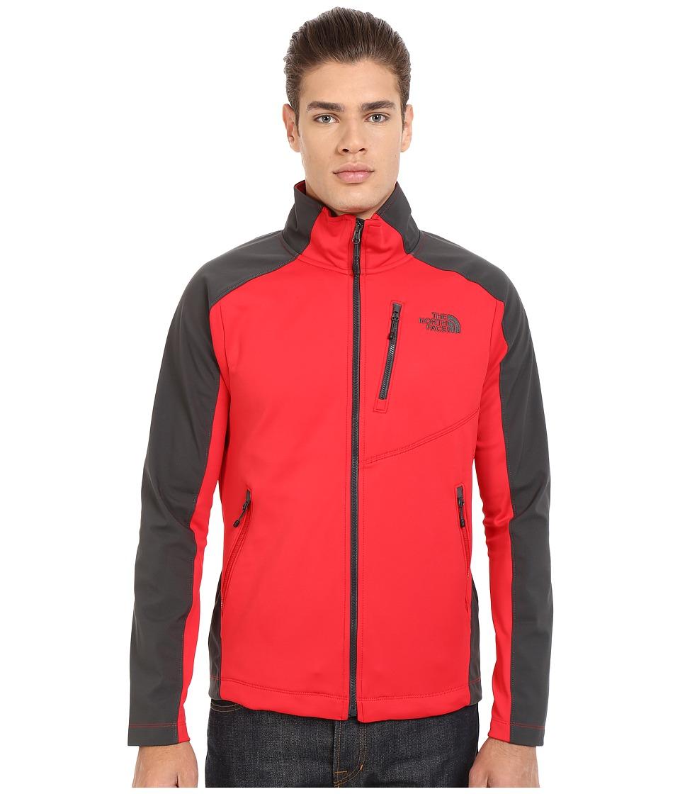 The North Face - Tenacious Hybrid Full Zip (TNF Red/Asphalt Grey) Men's Coat