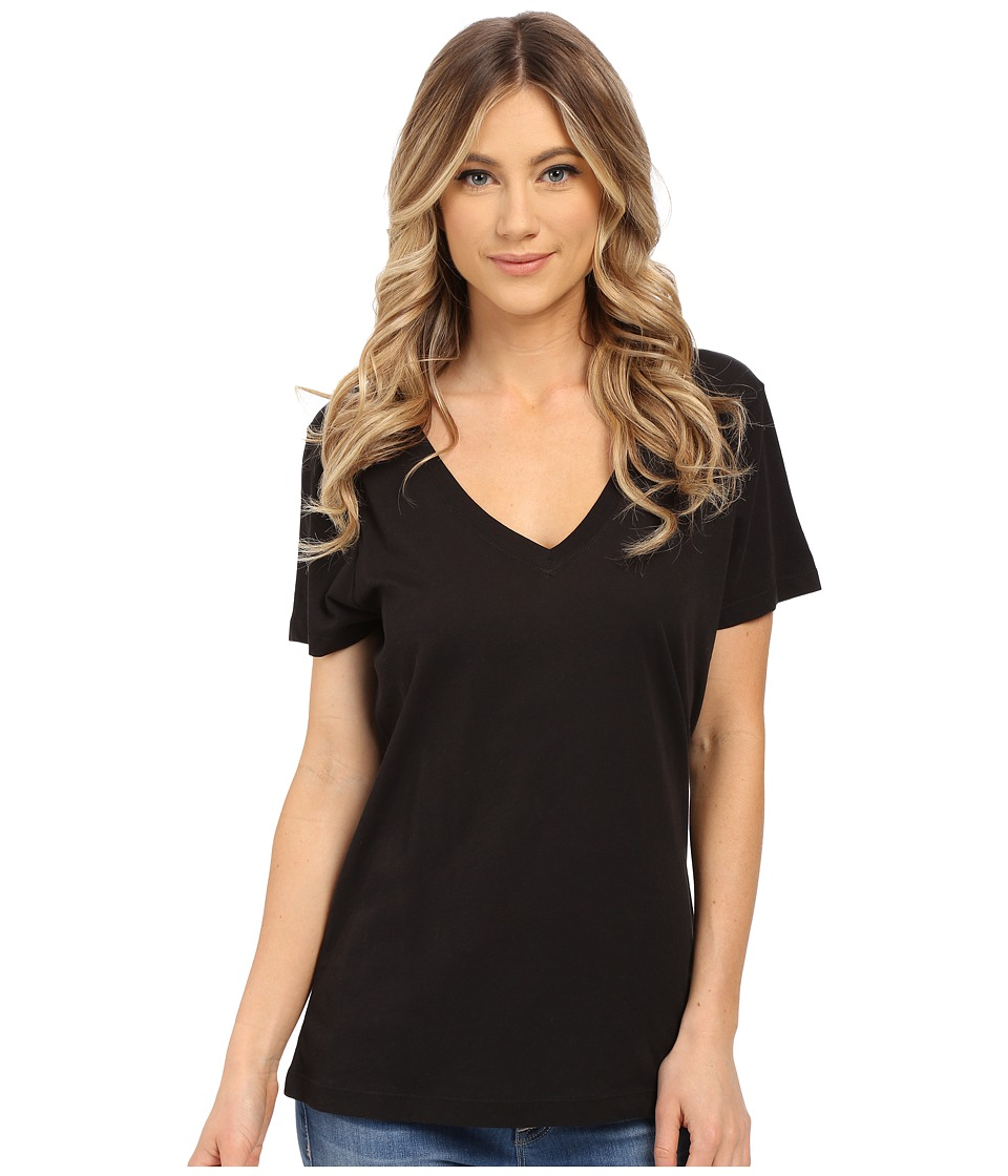 Hurley Staple Perfect V Tee (Black) Women