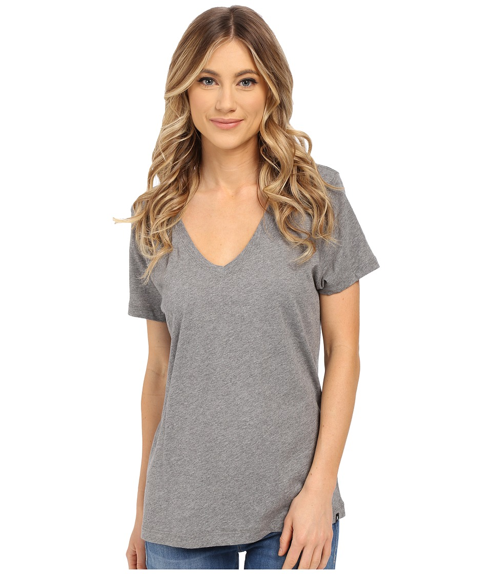 Hurley Staple Perfect V Tee (Carbon Heather) Women