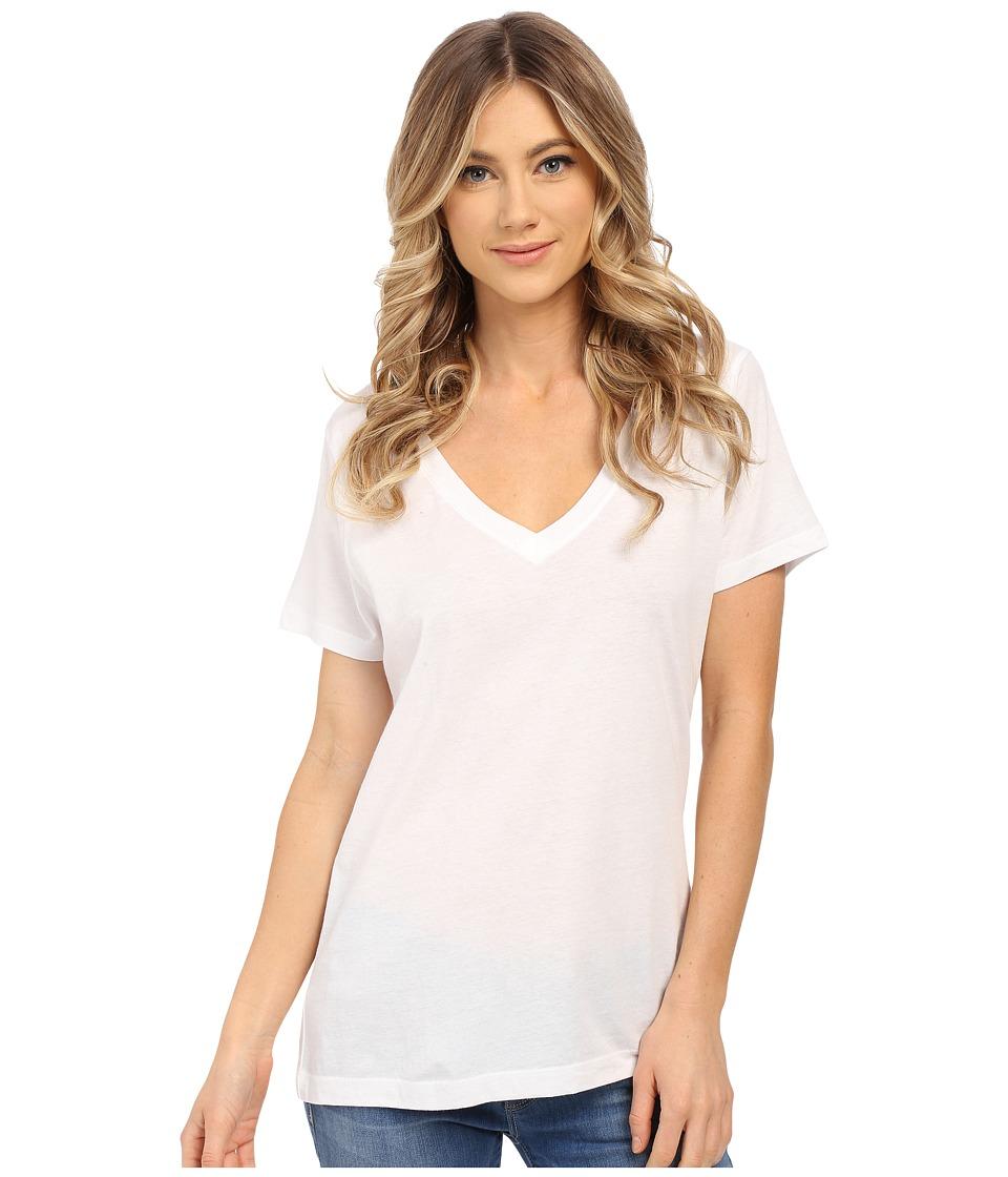 Hurley - Staple Perfect V Tee (White) Women's T Shirt