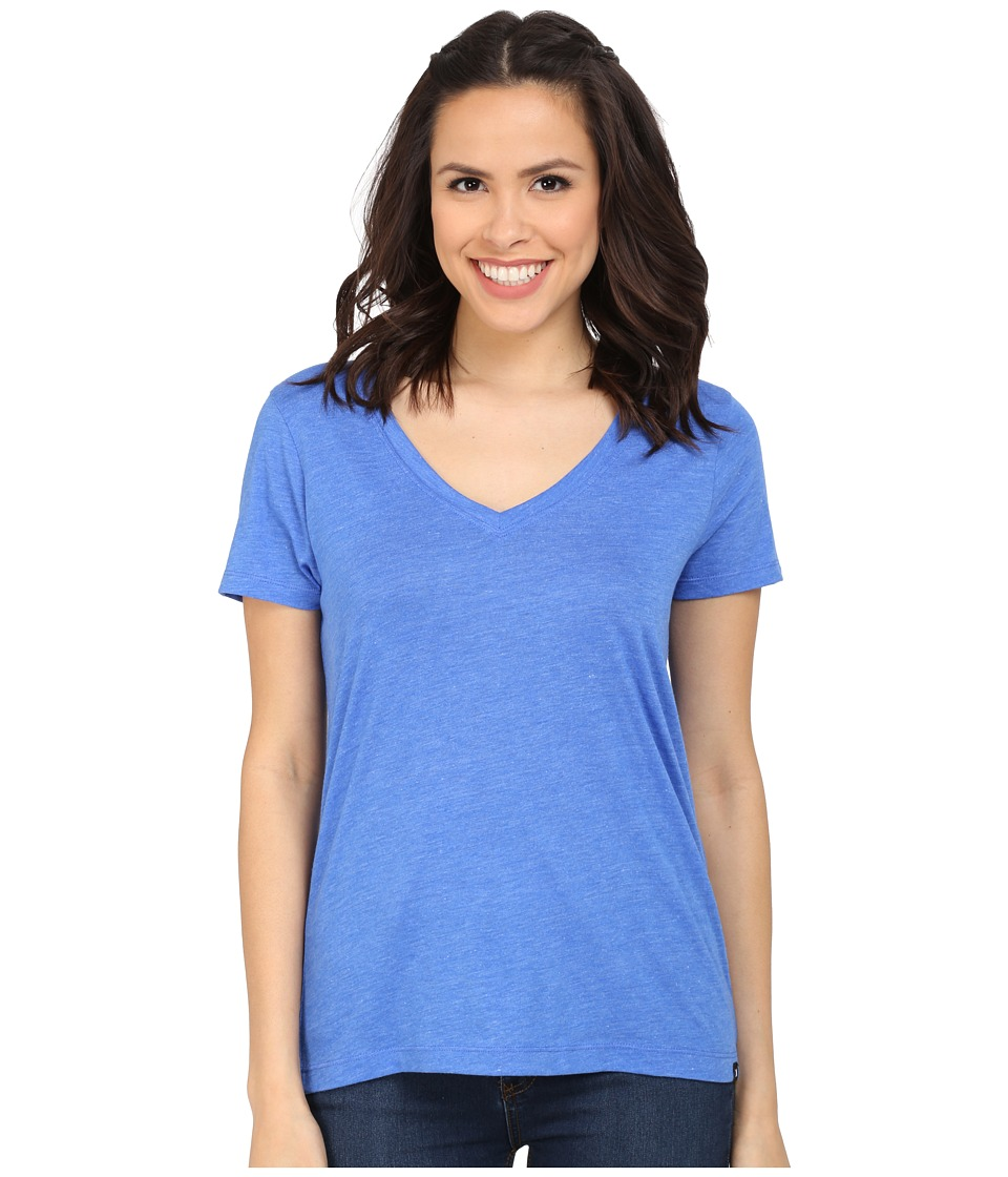 Hurley Staple Perfect V Tee (Heather Hyper Cobalt) Women