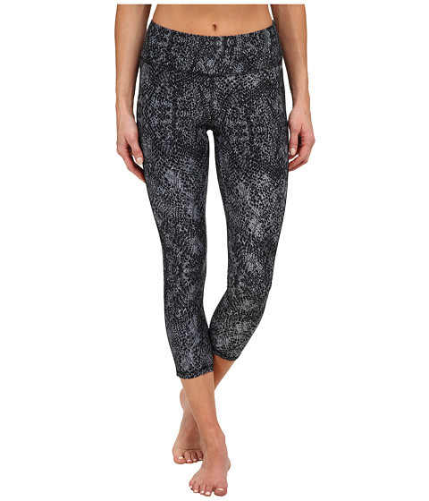 Jockey Active - Python Print Capris (Deep Black) Women
