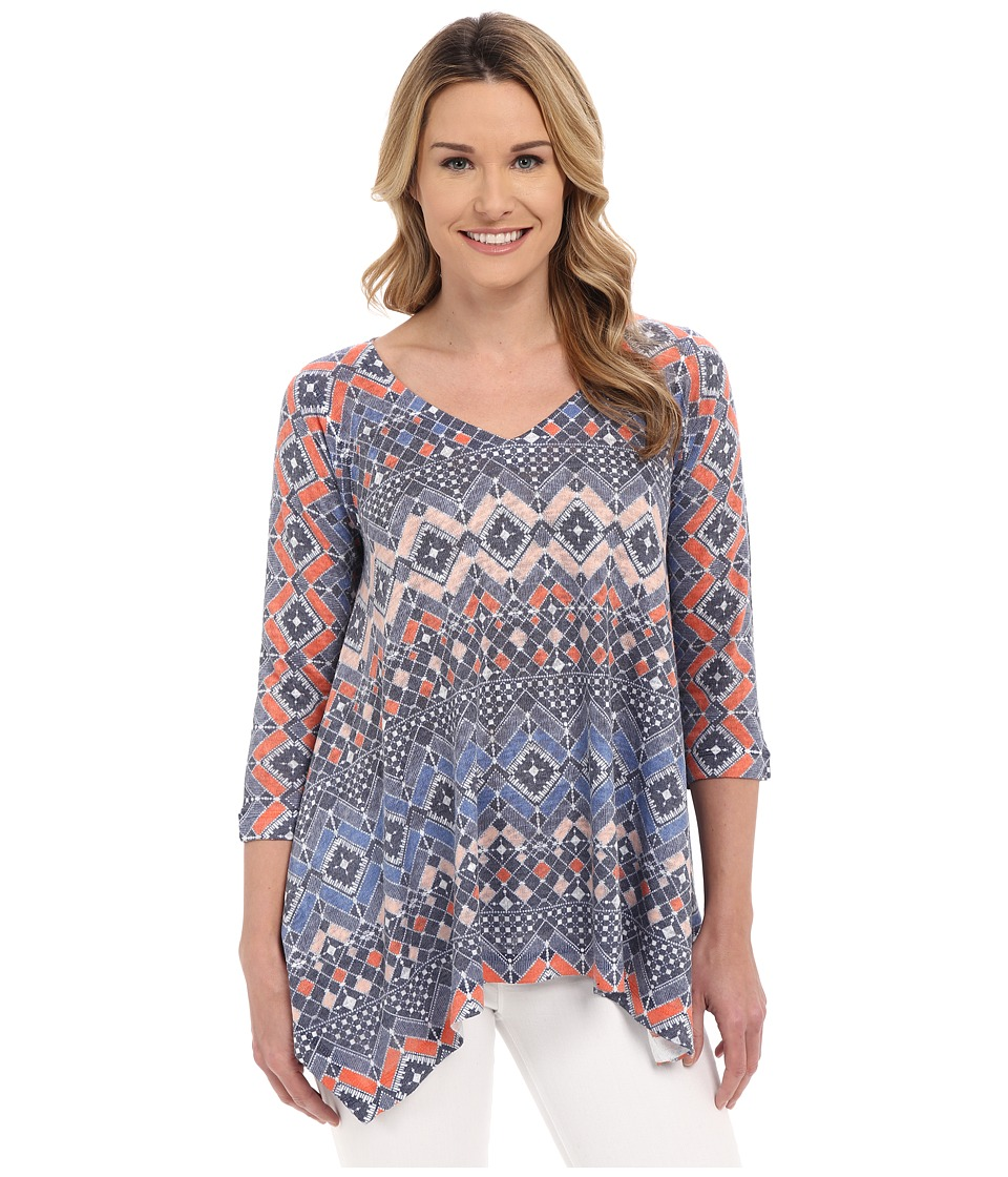 Nally & Millie - Aztec Tunic (Orange Multi) Women's Long Sleeve Pullover