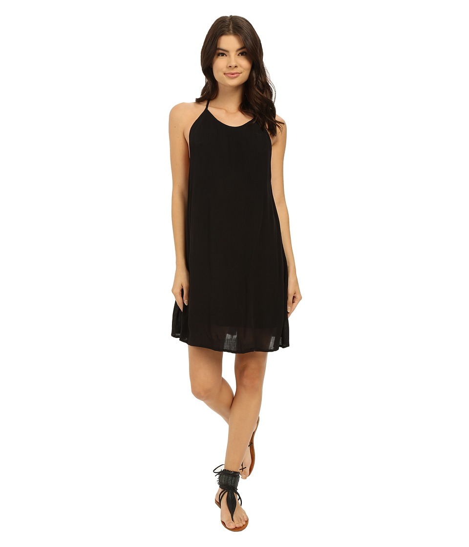 Roxy - Passing Sky Solid Dress (True Black) Women's Dress